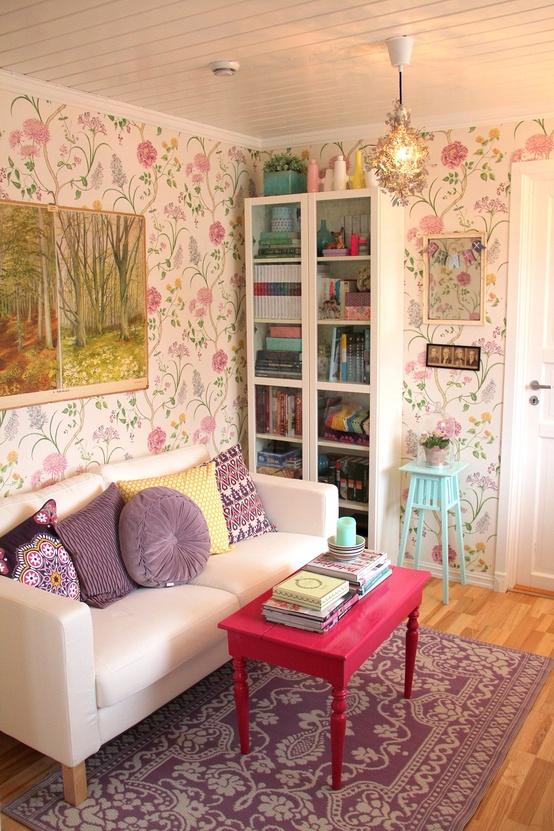Quarto Com Papel De Parede Vintage ~ quarto studio papel de parede via vintagehome